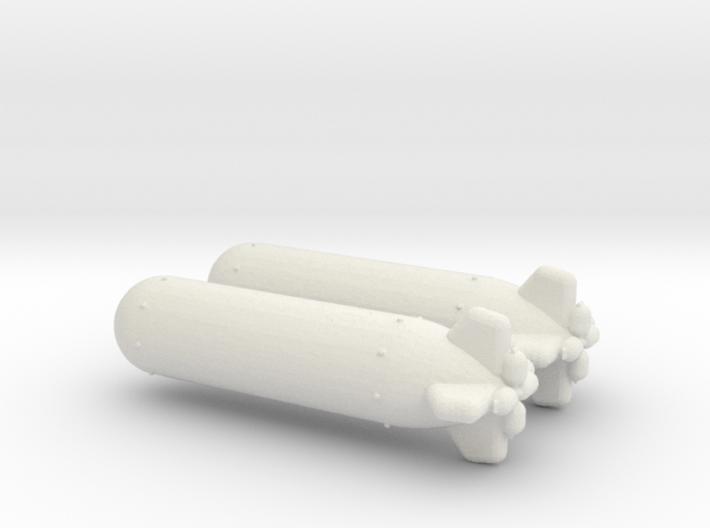 1/144 Scale Torpedo Mk 32 3d printed