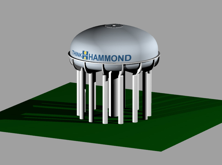Hammond Water Tower 3d printed