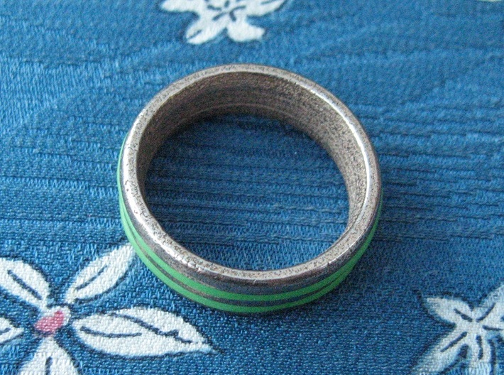 US13 O-Ring Ring: Glow (Stainless Steel) 3d printed