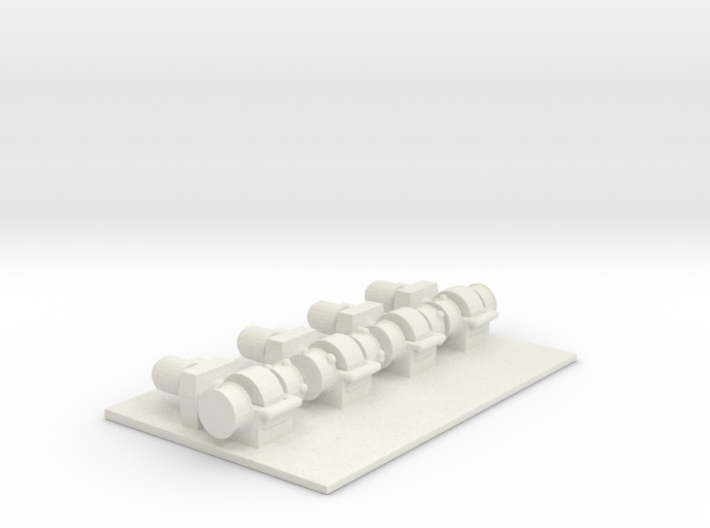 1/144 Scale Boat Winches (4) 3d printed