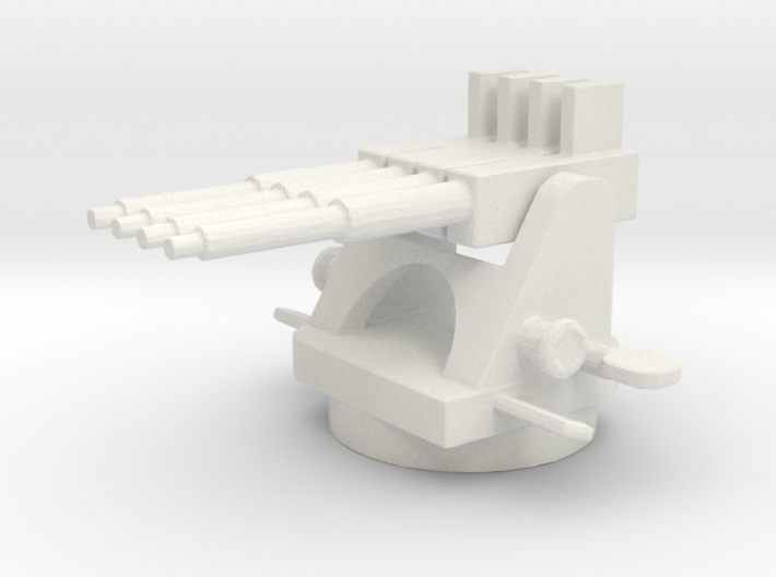 1/144 Scale USN 1.1 Inch AA Quad Mount Gun 3d printed