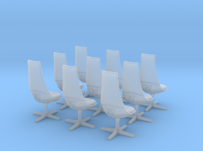 TOS Chair 1:32 - 8+1 for Bridge Model 3d printed Frosted Ultra Detail - translucent