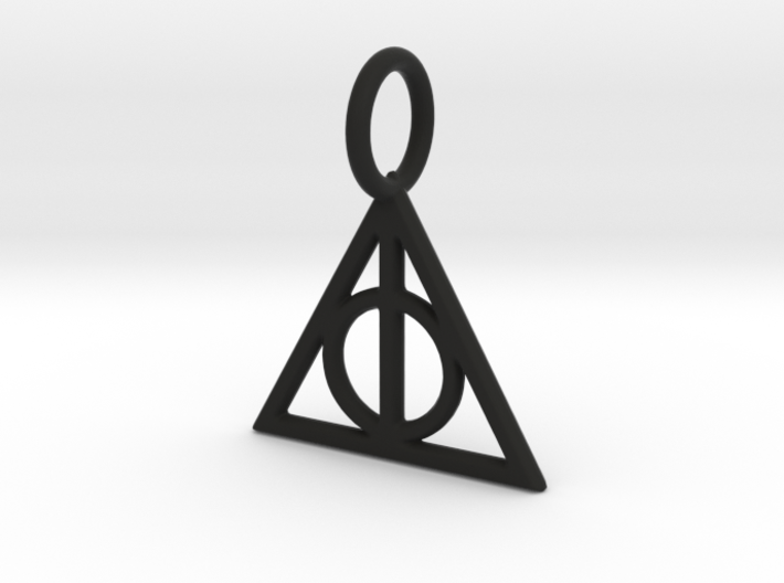 HARRY POTTER Deathly Hallows Pendant (1.5cm) 3d printed