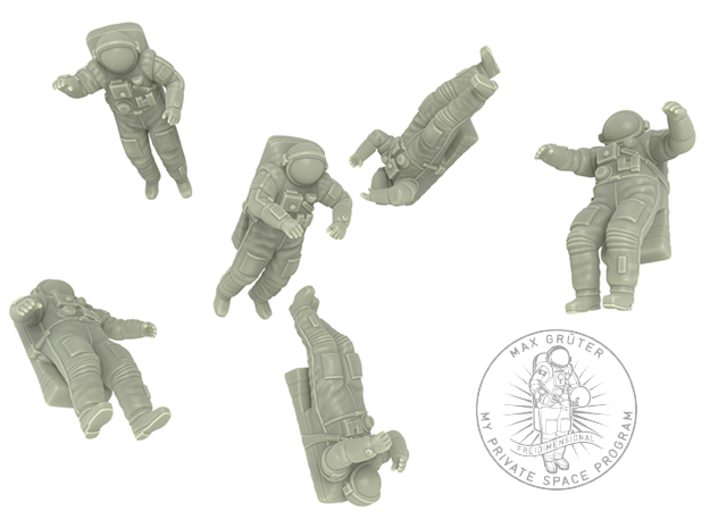 Astronaut // Cosmonaut with Orlan Space Suit 3d printed