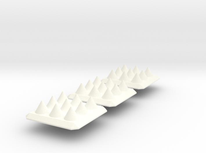 Spike Trap x3 Batch 3d printed
