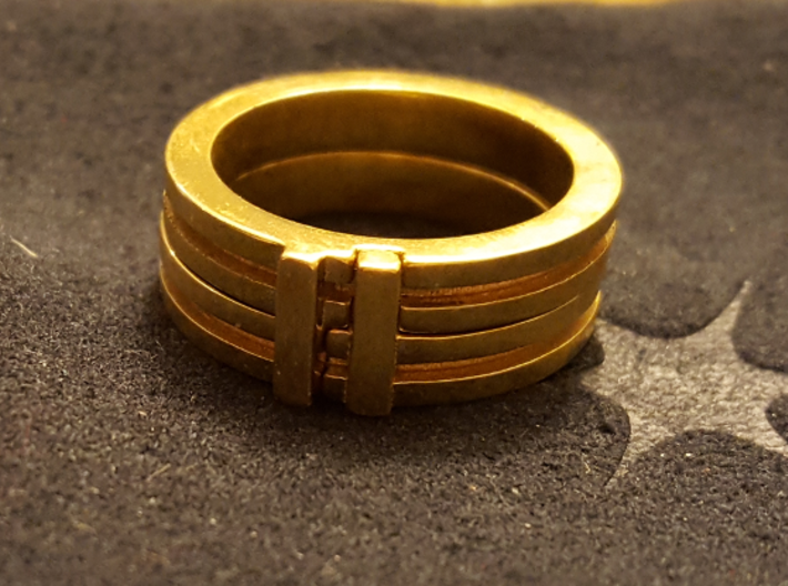 Stackable Ring Size 7 3d printed Stacked