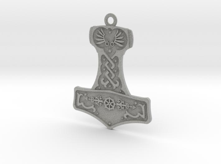Steampunk Mjolnir Pendant 3d printed
