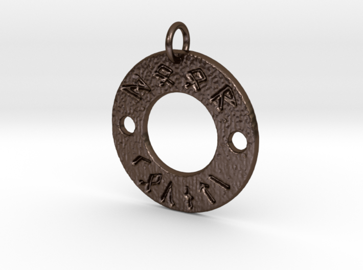 Rune Door County Pendant 3d printed