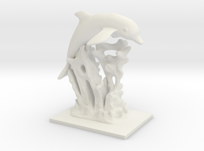 Dolphin Statue 3d printed