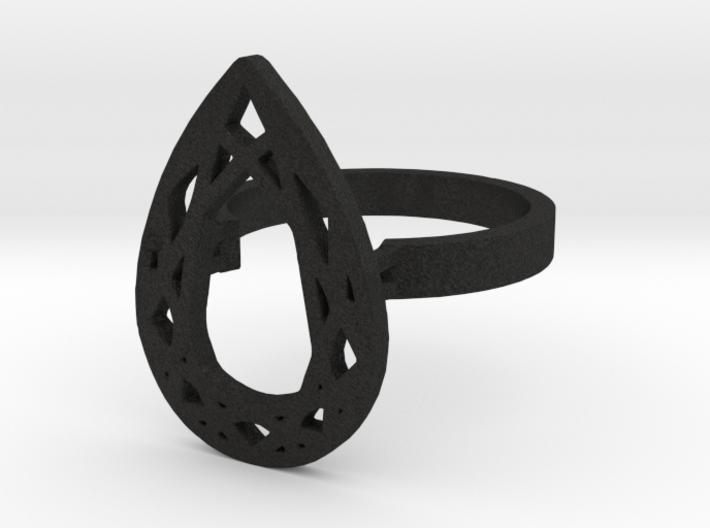 TEAR DIAMOND RING 3d printed