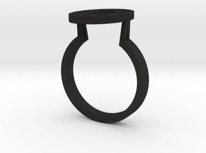 OVAL DIAMOND RING 3d printed