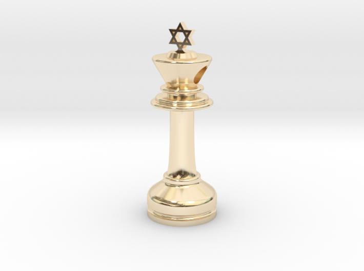 MILOSAURUS Jewelry David Star Chess King Pendant 3d printed