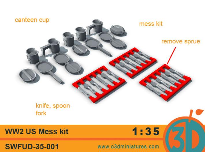 WW2 US Mess Kit 1/35 scale SWFUD-35-001 3d printed