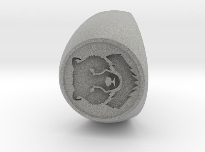 Custom Signet Ring 36 V3 3d printed