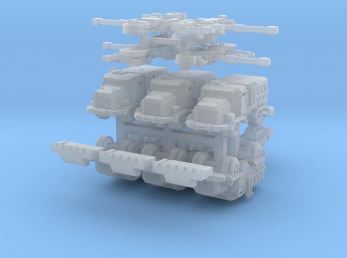 6mm Muskox MRAP APCs (Wheeled) (6pcs) 3d printed