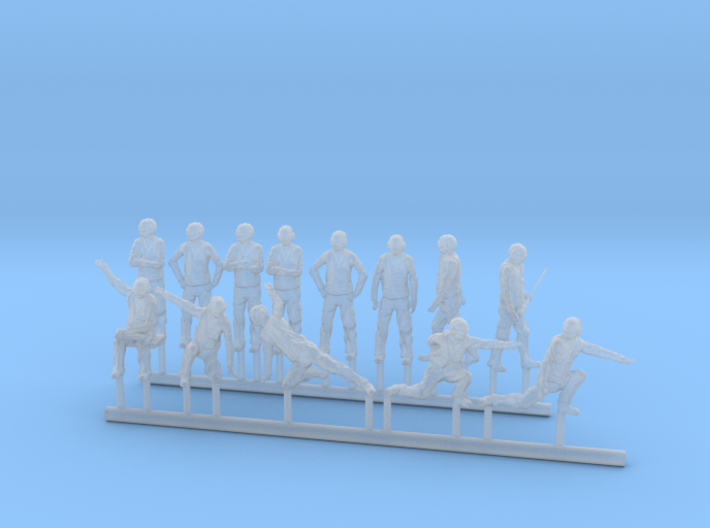 96-H0070: Carrier catapult 1 or 3 crew scale 1:96 3d printed