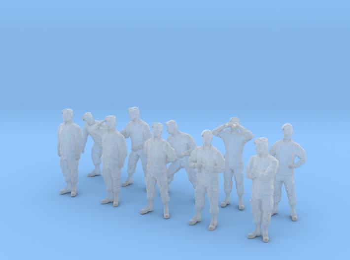 1-48 Army Modern Uniforms BERETS Set 4-1 3d printed