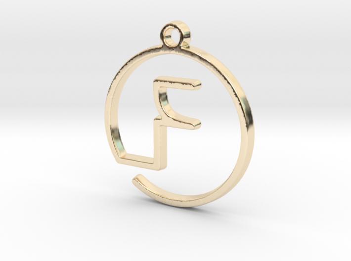 F Monogram Pendant 3d printed
