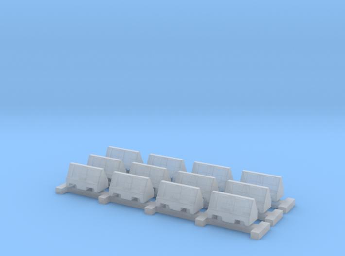 N Scale 12 Road Barriers 3d printed