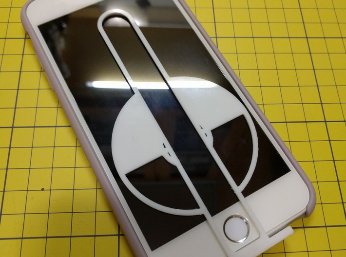 "Pokeball Launcher 3d printed on iPhone 6+ (5.5"" screen)"