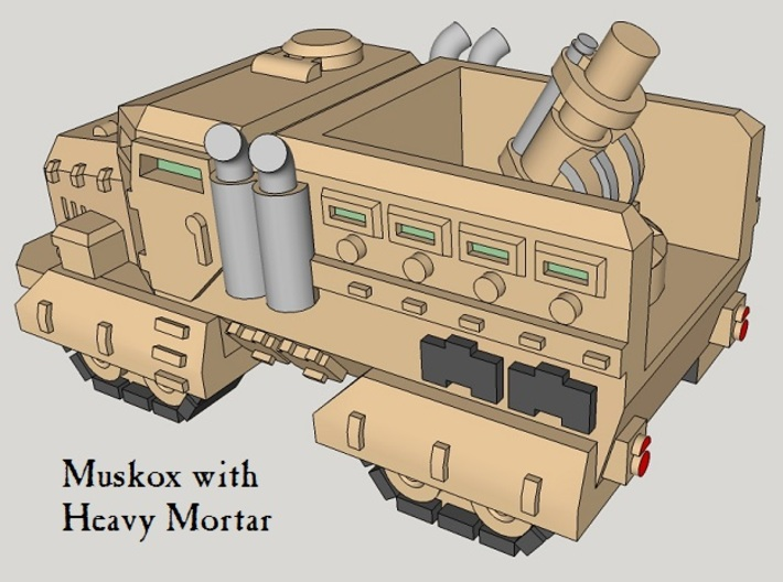 6mm Muskox Fire-Support MRAP (Quad-Tracked) (6pcs) 3d printed
