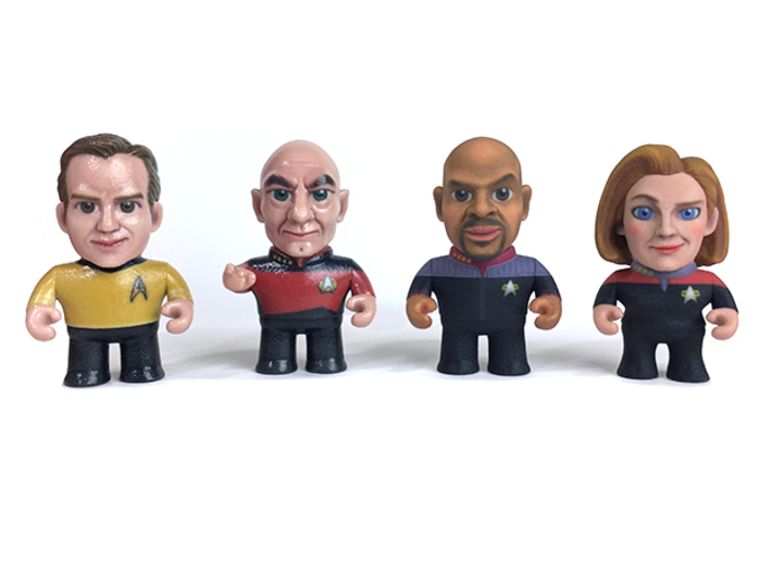 Picard Star Trek Caricature 3d printed Collect all the Star Trek captains!