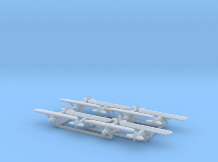 Piper PA18 - set of 8 - 1:700 scale 3d printed