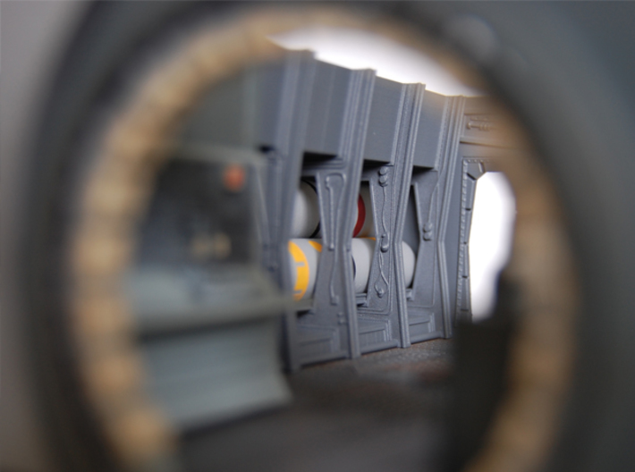 DeAgo Millennium Falcon Frames and pipes (rear) HD 3d printed Picture of painted part