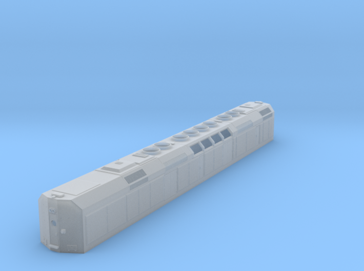 "N Scale F40DDPH ""B"" Unit w/Louvered Side Panels 3d printed"