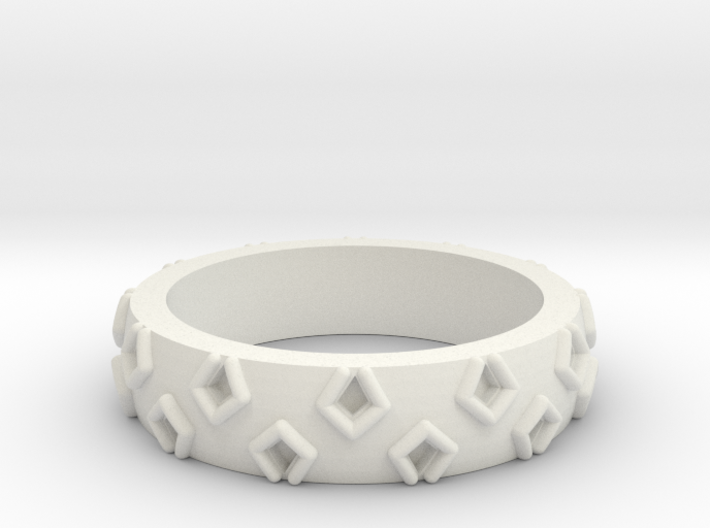 3D Printed Be a Little Different Punk Ring Size 7 3d printed
