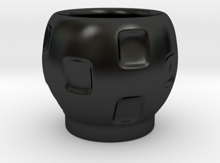 Stackable Round Espresso Cup (squares) 3d printed