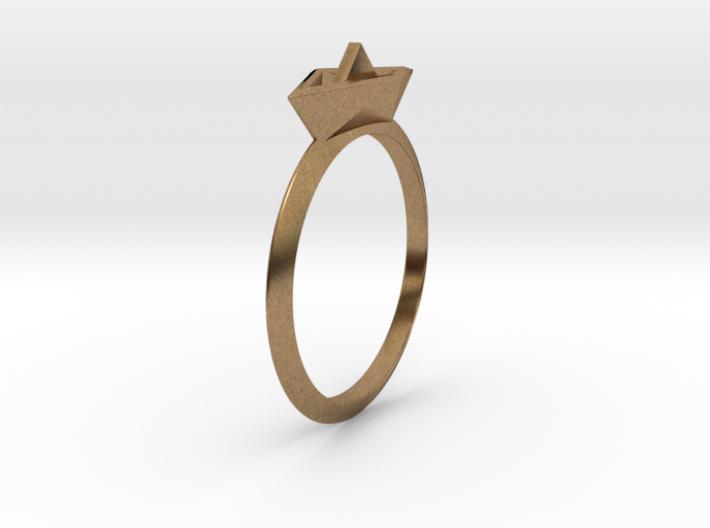 Paper Boat Ring 3d printed