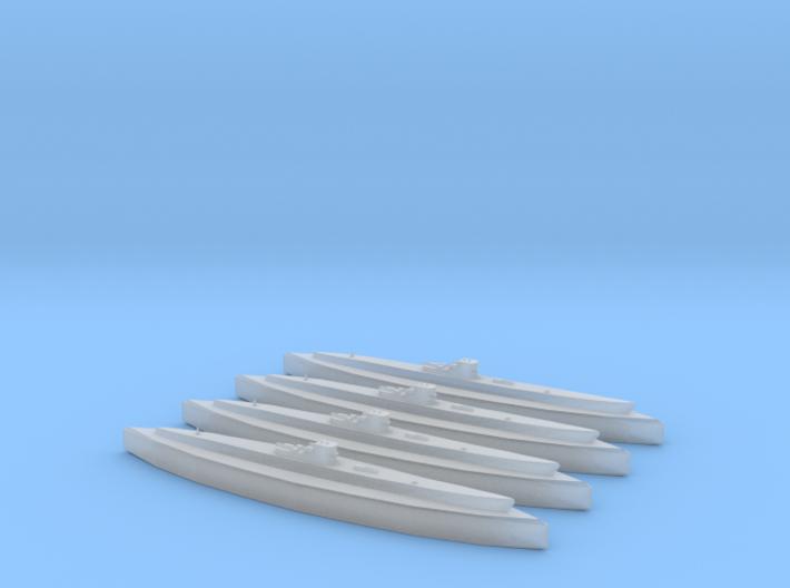 U-549 (Type IXC/40) x4 3d printed