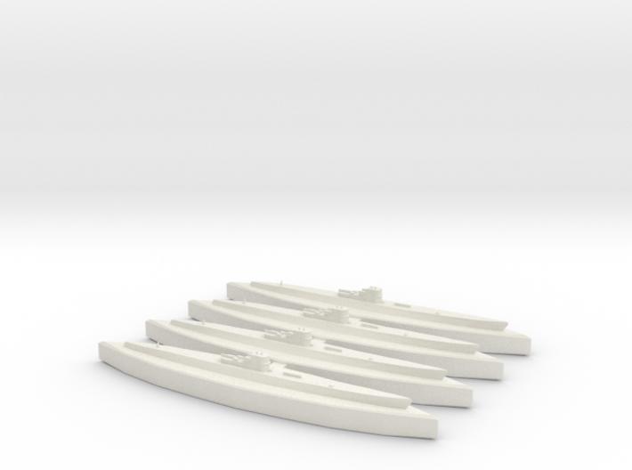 U-549 (WSF) (Type IXC/40) x4 3d printed