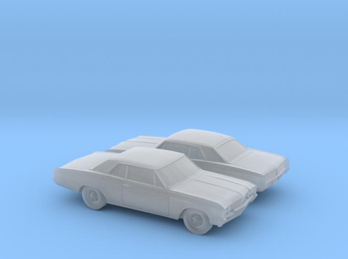 1/160 2X 1964-67 Buick Skylark Coupe 3d printed