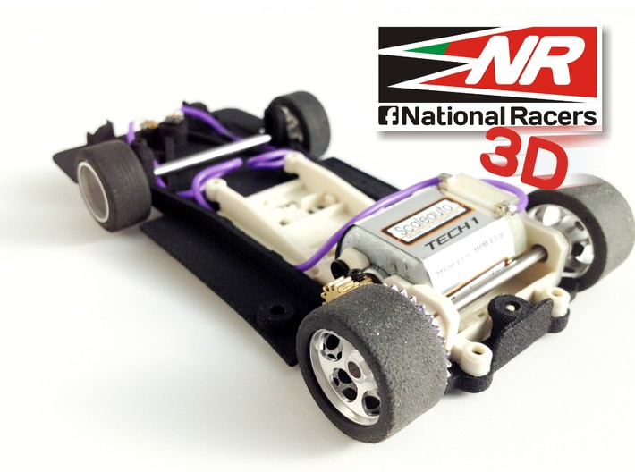 3D chassis - Fly Porsche 917 K / 917 LH - (SW) - 1 3d printed Rear view