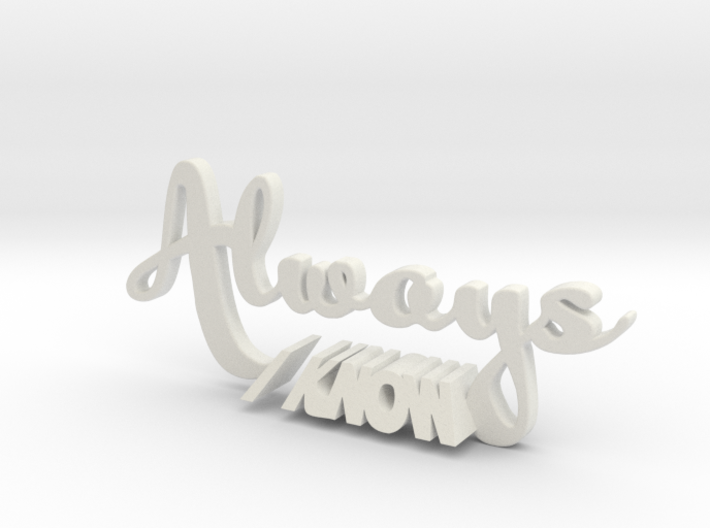 """""""Always I Know"""" Star Wars/Harry Potter Cake Topper 3d printed"""