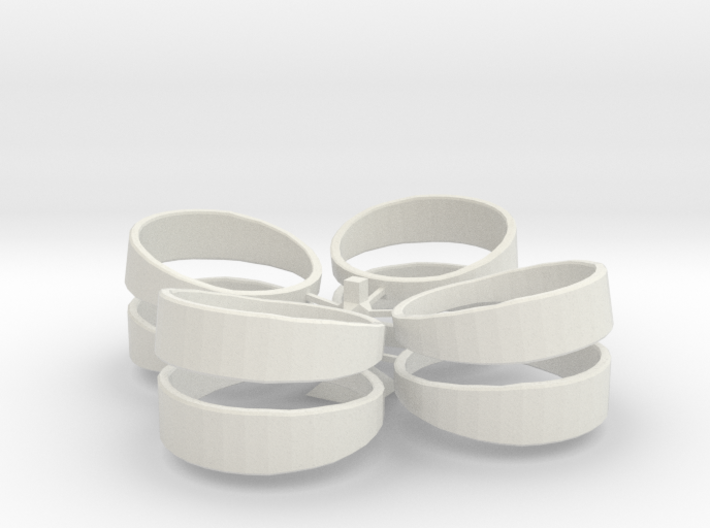 Basic Ring Set With Spru 3d printed
