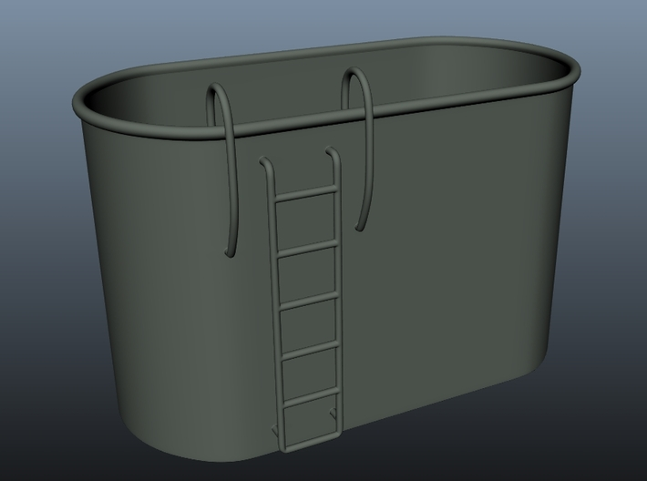 1/48 Tub for two MK51 gun control 3d printed