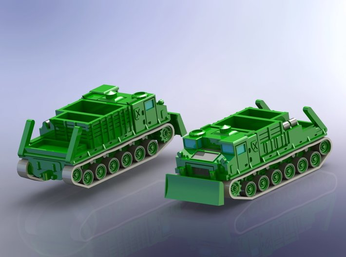 US M8E2 High Speed Tractor 1/285 3d printed