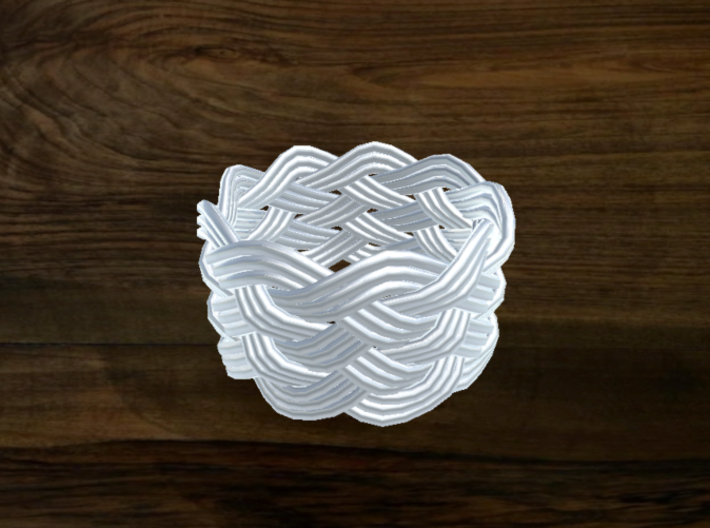 Turk's Head Knot Ring 6 Part X 9 Bight - Size 8 3d printed
