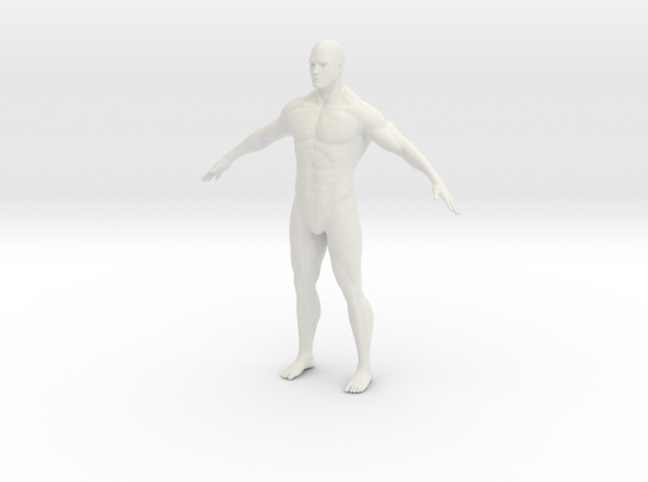1/12 Male Figure for Diorama 3d printed