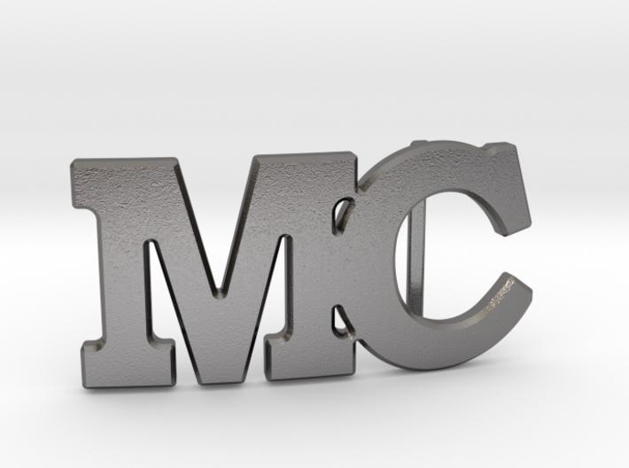 Custom Monogram Belt Buckle - MC 3d printed