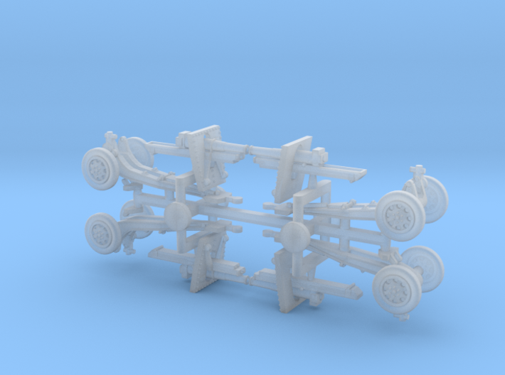 US 155mm M1918 Howitzer 1/285 3d printed