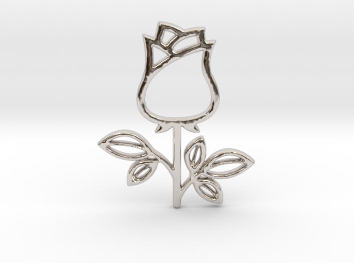Rose No.1 Pendant 3d printed