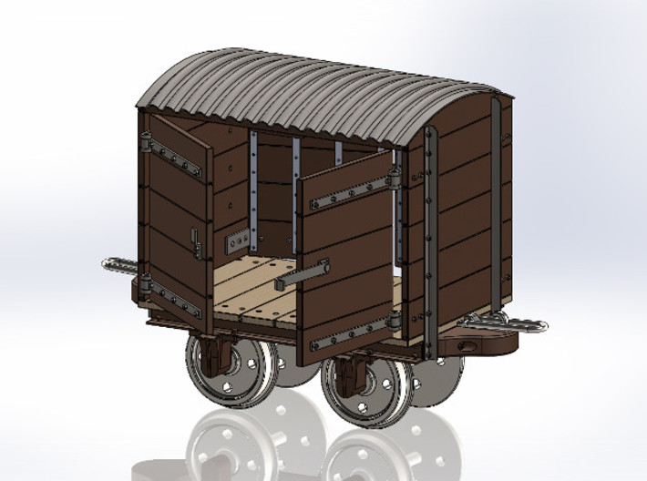 1:24 Gn15 Fowler Style Covered Wagon 3d printed