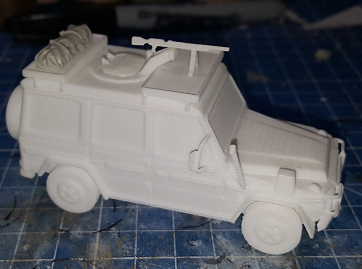 Canadian Army G-Wagen 1:50 3d printed Actual model, resin tarp on top not included.