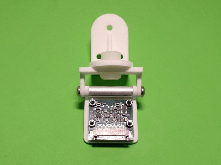 Rotating Bracket Adapter 3d printed complete Raspberry Pi Camera mounting solution (view from rear)