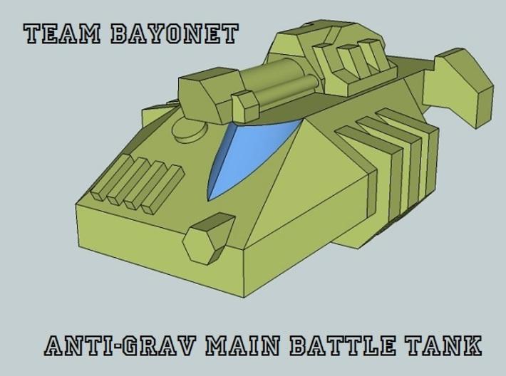 """Team Bayonet"" 3mm Anti-Grav Tanks & IFVs (48 Pcs) 3d printed"