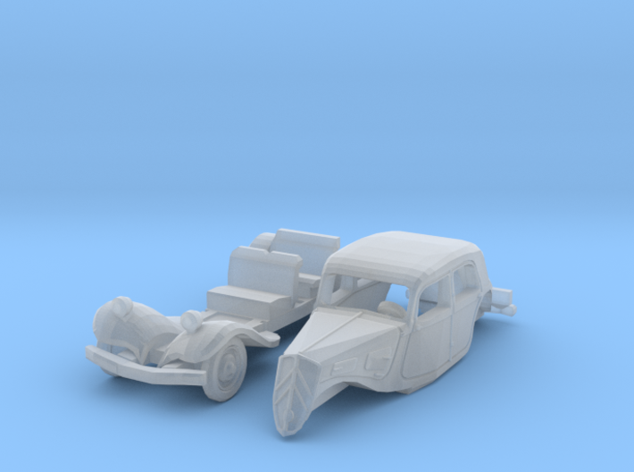 Citroën 7CV Traction Avant (1/144) 3d printed
